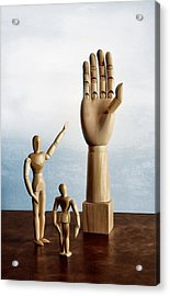 The Story Of The Creator Acrylic Print by Mark Fuller
