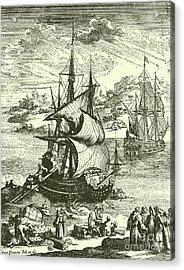 The Stranding Of The Aimable, Matagorda Bay, Texas, 1685 Acrylic Print