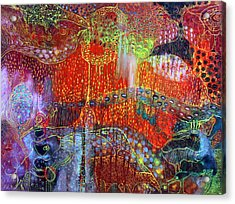 The Strange World Acrylic Print by Lolita Bronzini