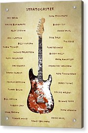 The Stratocaster Guitarists Acrylic Print by Mark Rogan