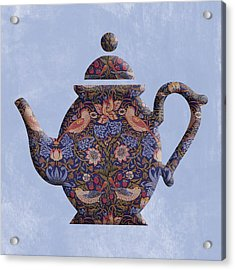 The Strawberry Thief Pattern Teapot Acrylic Print