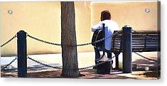 The Street Musician Acrylic Print by Glenn Gemmell