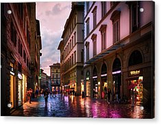 The Streets Of Florence Acrylic Print