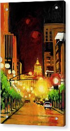 The Streets Run With Crimson And Gold Acrylic Print