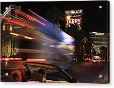 The Strip At Night 4 Acrylic Print by Don MacCarthy