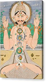 The Subtle Body And The Chakras Acrylic Print by Indian School