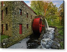 The Sudbury Grist Mill  Acrylic Print by Juergen Roth