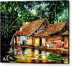The Sun Does Not Forget A Village Just Because It Is Small  Acrylic Print by Yuki Othsuka