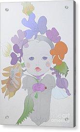 The Sun Flower Child Fairy Acrylic Print by Iordache Alice