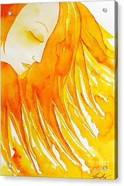 The Sun Goddess Acrylic Print by Jean Fry