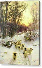 The Sun Had Closed The Winter Day 1904 Acrylic Print