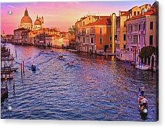 The Sun Is Setting In Venice Acrylic Print