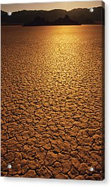 The Sun Reflects Off This Parched Lake Acrylic Print by Bill Hatcher