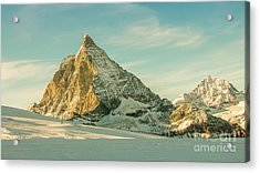 The Sun Sets Over The Matterhorn Acrylic Print
