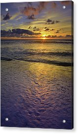 Acrylic Print featuring the photograph The Sun Sets Softly In Molokai by Tara Turner
