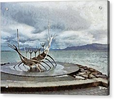 Acrylic Print featuring the digital art The Sun Voyager by Digital Photographic Arts