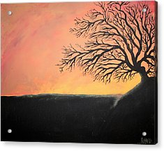 Acrylic Print featuring the painting The Sun Was Set by Antonio Romero