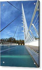 Acrylic Print featuring the photograph The Sundial Bridge by James Eddy