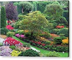 The Sunken Garden At Dusk Acrylic Print