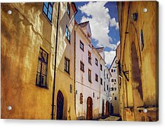 Acrylic Print featuring the photograph The Sunny Streets Of Old Riga  by Carol Japp
