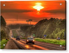 The Sunrise Commute Georgia Interstate 20 Art Acrylic Print