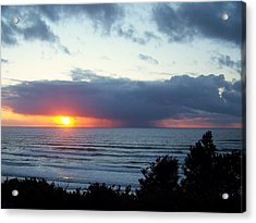 The Sunset And The Storm Acrylic Print by Angi Parks