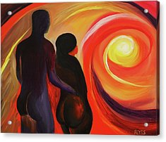 The Sunset Of Our Dreams Acrylic Print by Angel Reyes