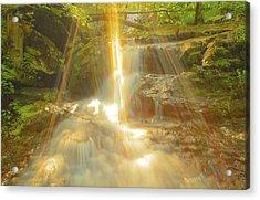 The Sunset  On Jones Falls Acrylic Print by Glenn Vidal
