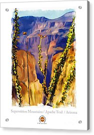 The Superstition Mtns. Az Acrylic Print