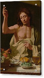 The Supper At Emmaus-detail Acrylic Print