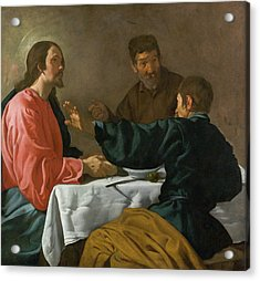 The Supper At Emmaus Acrylic Print by Diego Velazquez