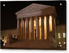 The Supreme Court Building At Night Acrylic Print by Brian M Lumley