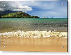 The Surf At Hanalei Bay Acrylic Print