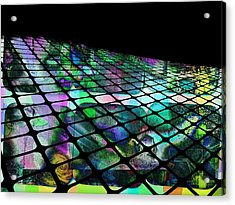 The Surface Of Color Acrylic Print by Contemporary Art