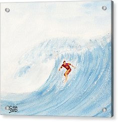 The Surfer Acrylic Print by Ken Powers