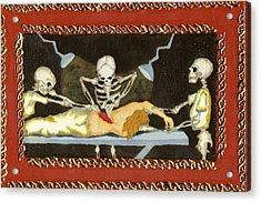 The Surgeon's Rape Acrylic Print by Cathy Germay