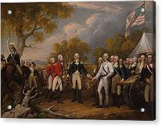 The Surrender Of General Burgoyne At Saratoga Acrylic Print