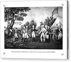 The Surrender Of General Burgoyne Acrylic Print