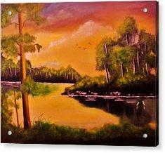 The Swamp Acrylic Print by Manuel Sanchez