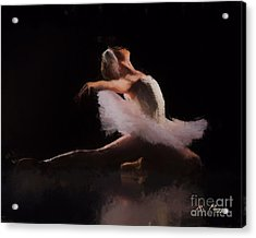 Acrylic Print featuring the painting The Swan  by Rosario Piazza