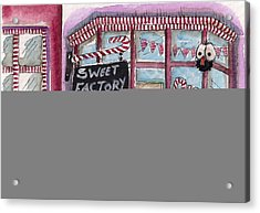 The Sweet Factory Acrylic Print by Lucia Stewart