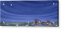The Sweetest Little Town In The Prairie II Acrylic Print