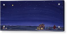 The Sweetest Little Town On The Prairie V Acrylic Print by Scott Kirby
