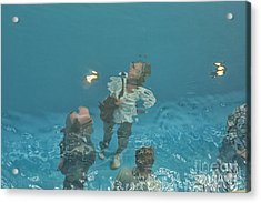 The Swimming Pool Acrylic Print by Patricia Hofmeester