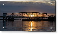 The Swing Bridge Acrylic Print by Betsy Knapp