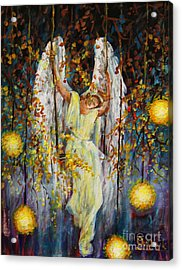 The Swinging Angel Acrylic Print