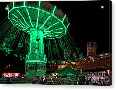 Acrylic Print featuring the photograph The Swings At Queen Mary's Chill by Eddie Yerkish