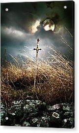 Sword Under A Full Moon Acrylic Print