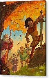 The Sword In The Stone Acrylic Print