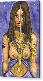 The Sword Of Magic Acrylic Print by Scarlett Royal